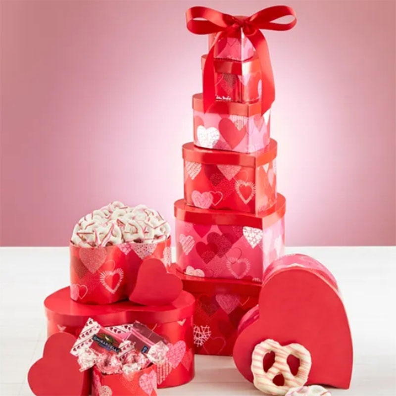 Valentine Tower Of Sweets