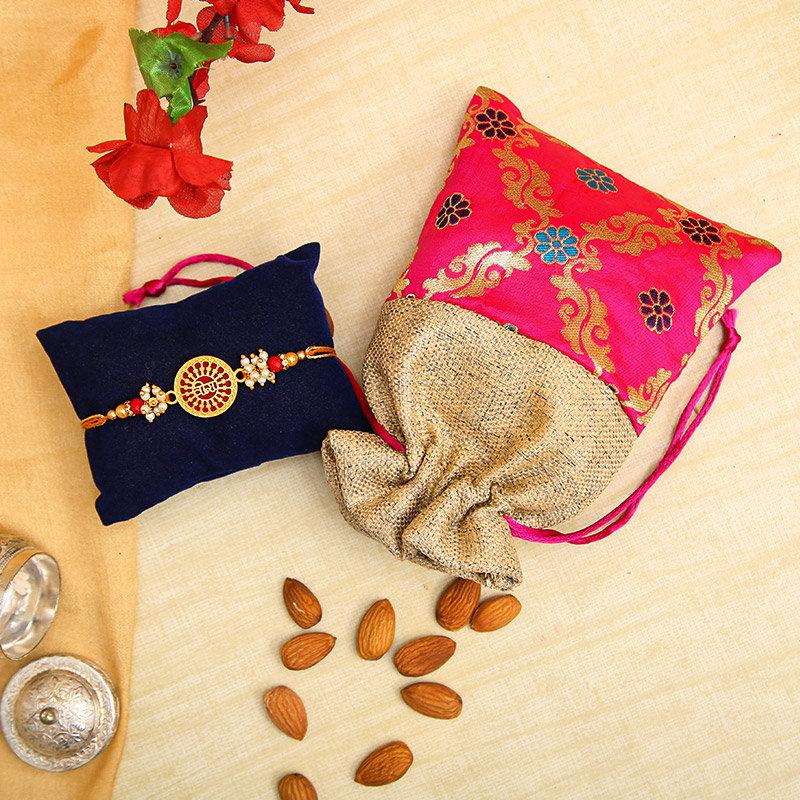 One Designer Rakhi - Veera Rakhi Almonds Pack