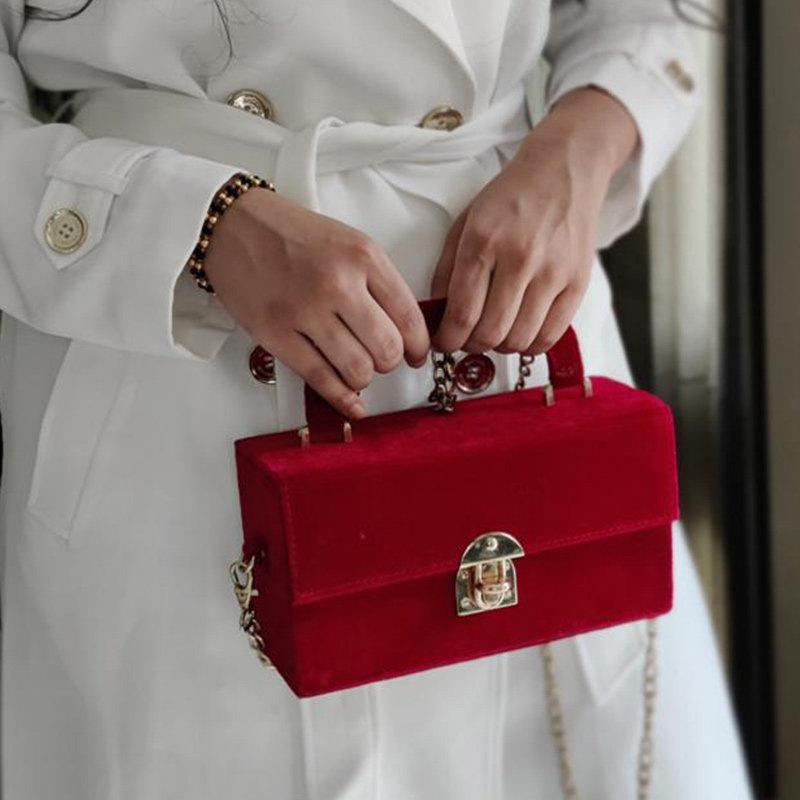 Velvet Box Sling Bag