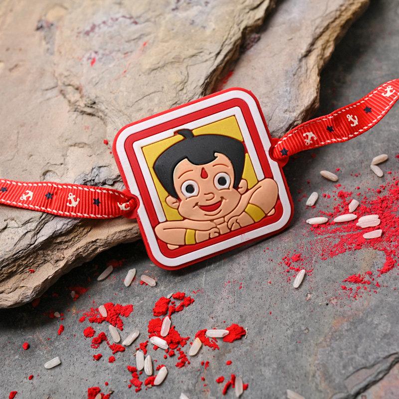 Vibrant Chhota Bheem Rakhi - One Cartoon Rakhi for Baby Boy