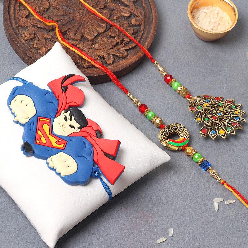 Vibrant Superman Rakhi Set