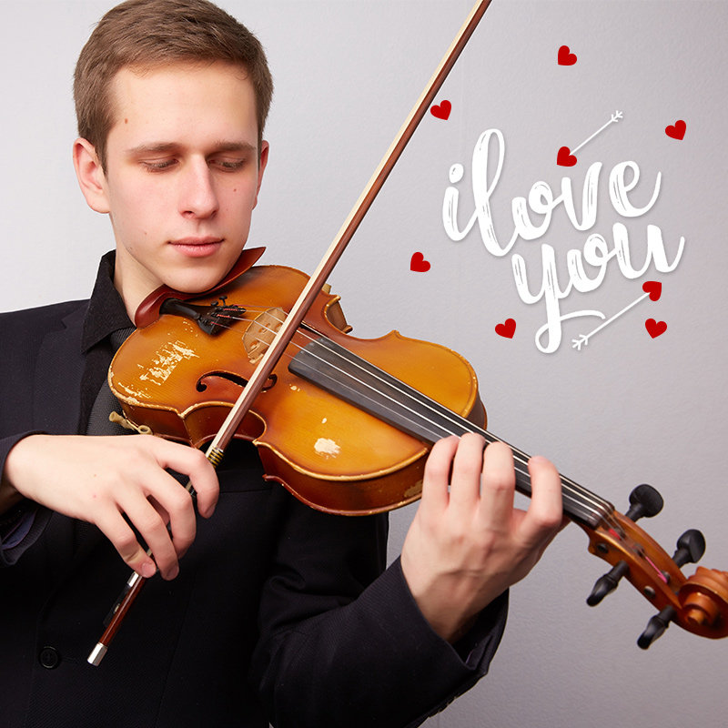 Express Your Love With Romantic Song on Violin