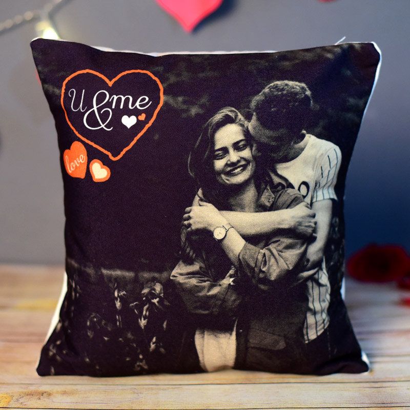 You & Me Photo Cushion for Valentine's Day