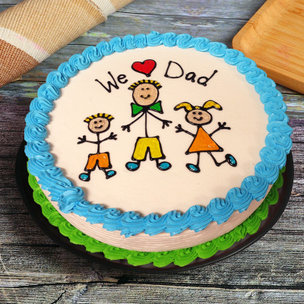 We love dad cake