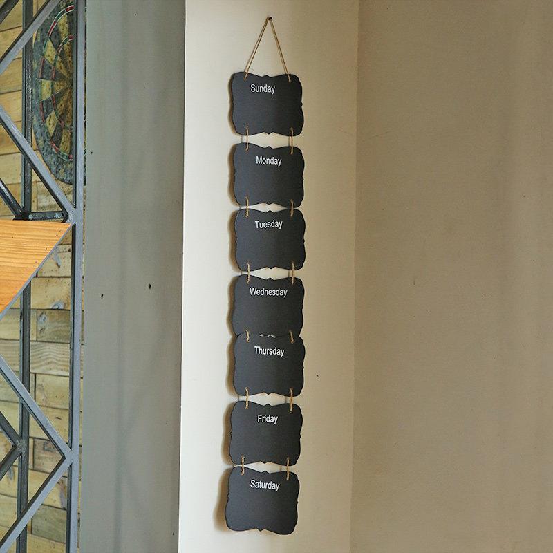 Weekday Black Wall Hanging