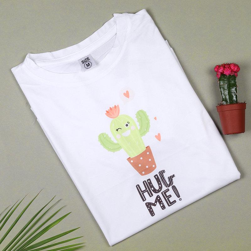 White Hug Me Tshirt