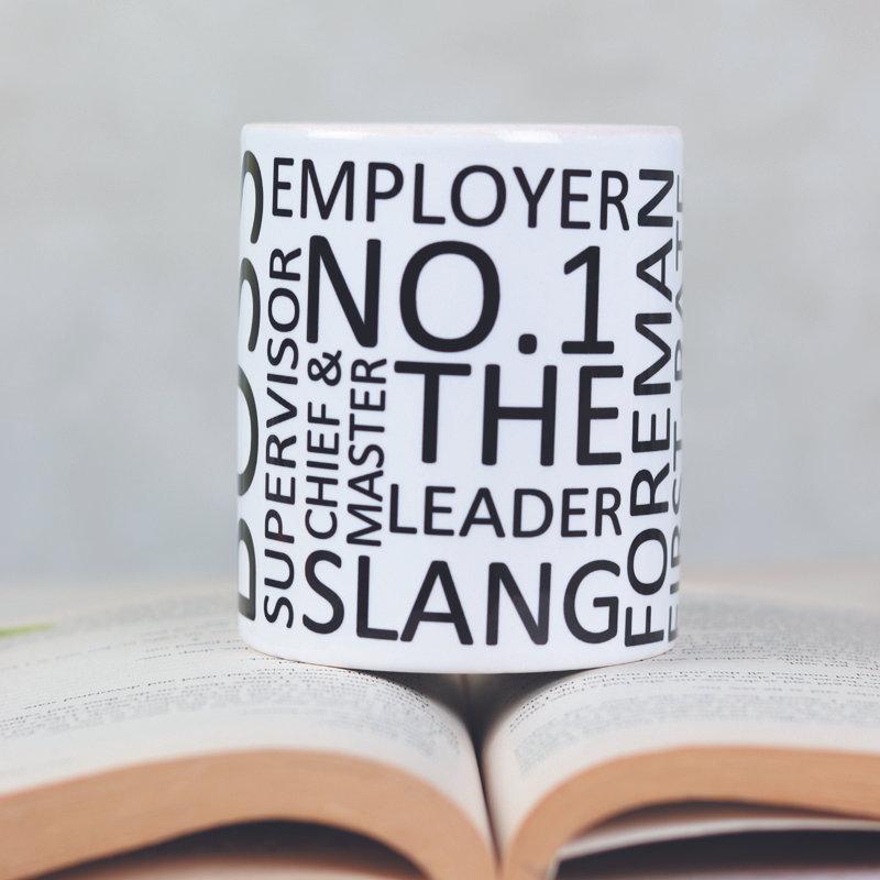 White N Black Boss Mug