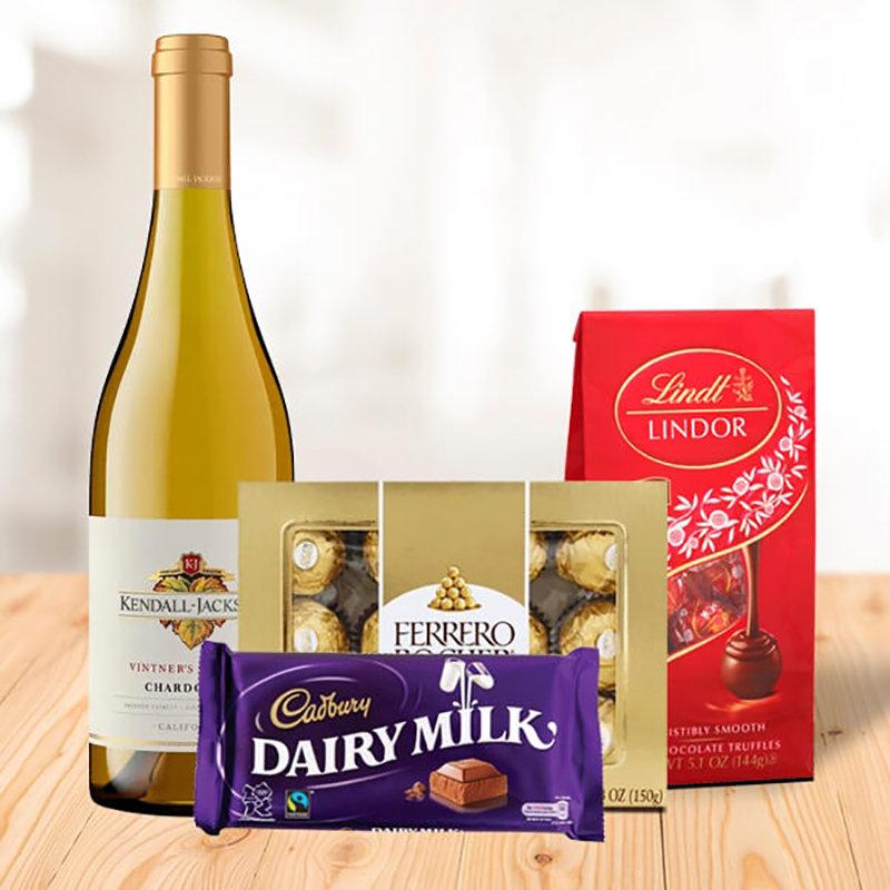 White Wine N Mixed Chocolates