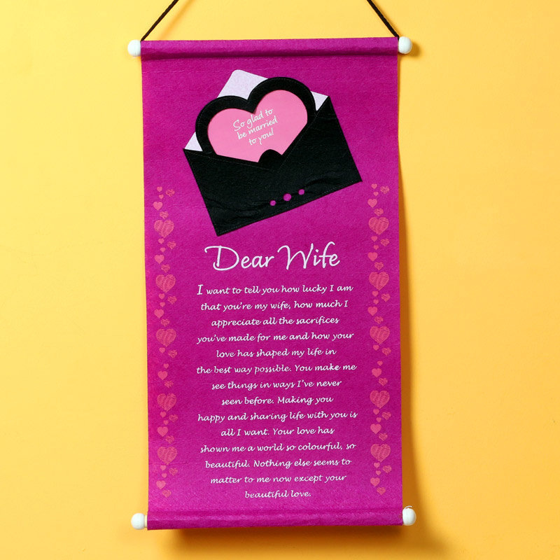 Quotation Scroll Personalized Valentine Gift for Wife