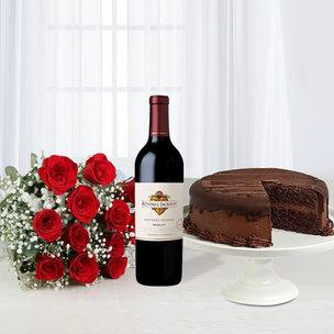 Wine Cake N Rose