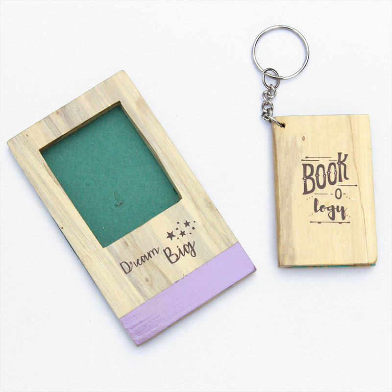 Wooden Keyring and magnet combo
