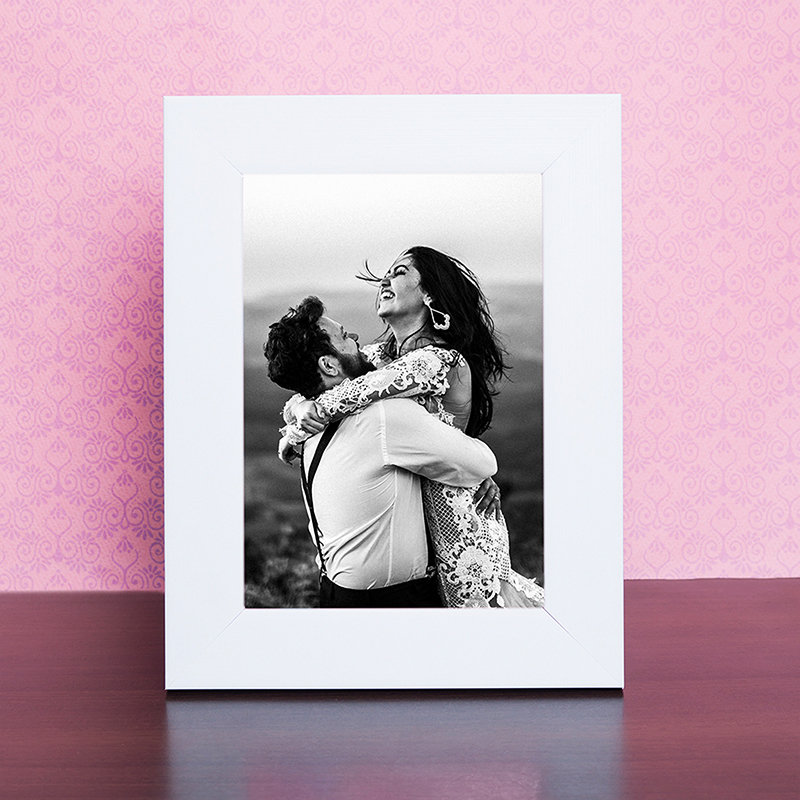 Wooden Table Top Photo Frame
