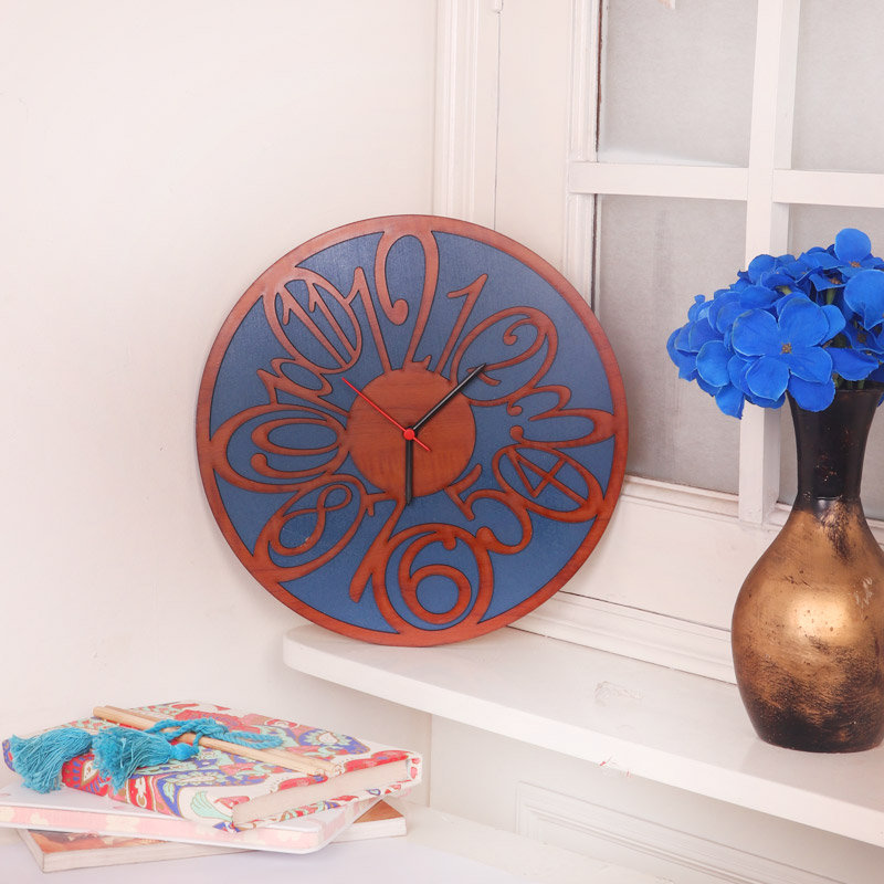 Wooden Carved Round Wall Clock Gift