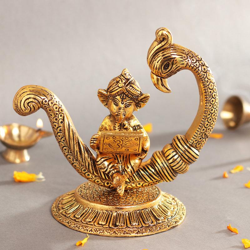 Ganesha On Peacock