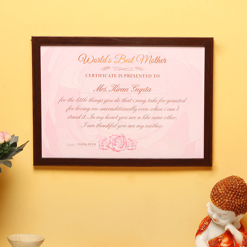 Personalised Wall Frame for Mom