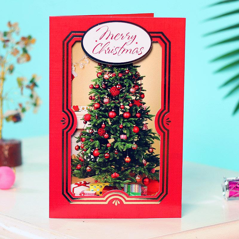 Xmas Card For Secret Santa - Merry Christmas Greeting Card - Size 9X6 Inch