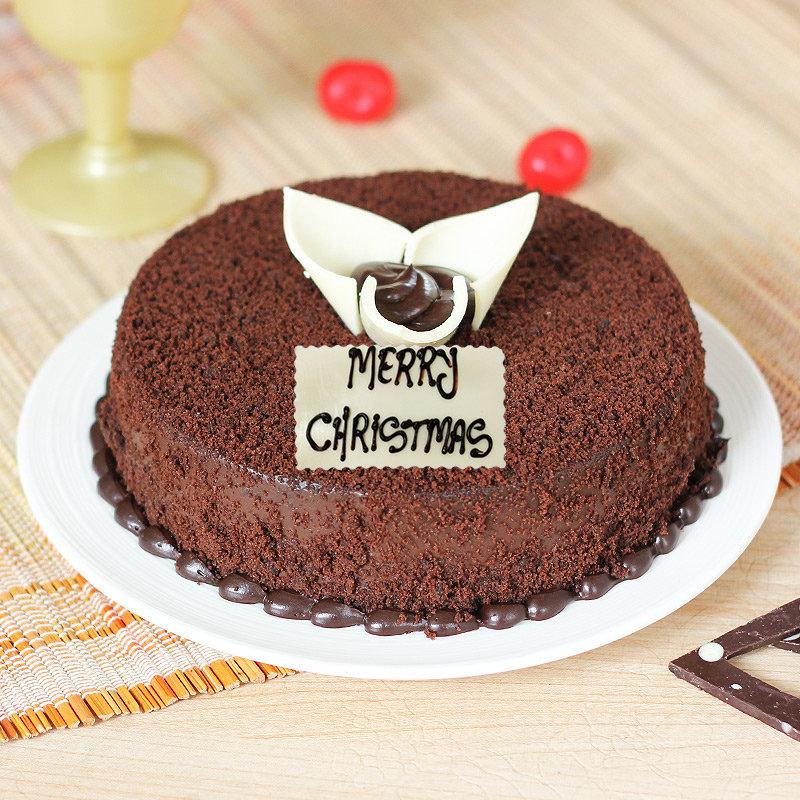 Choco Mud Cake for Christmas