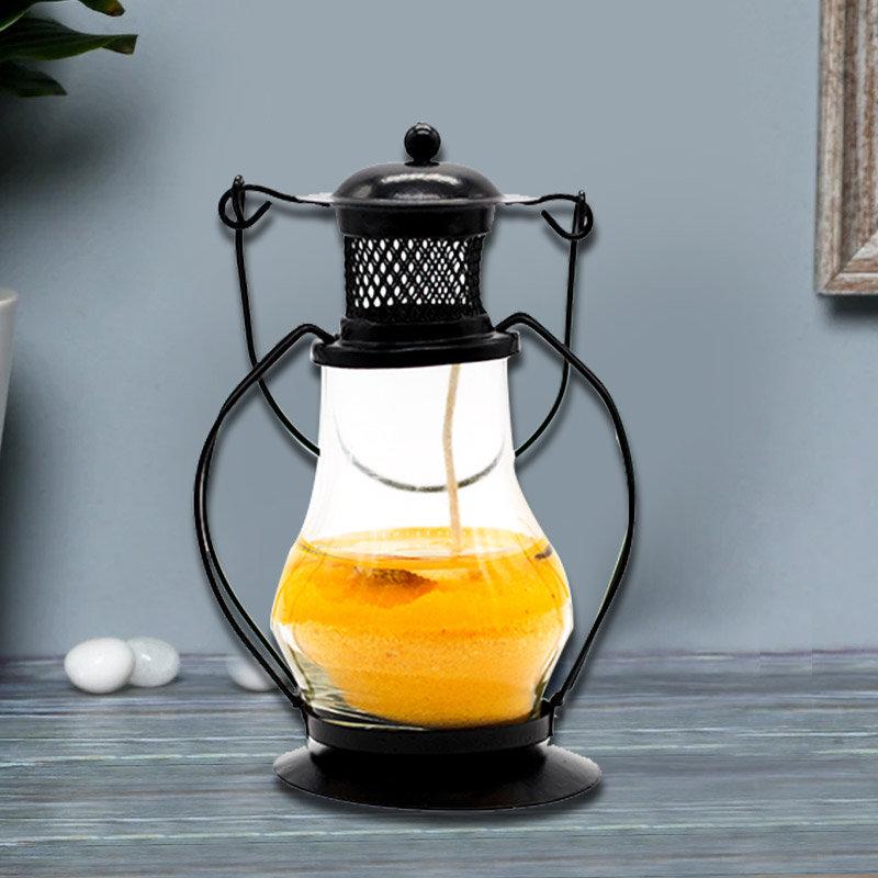 Yellow Gel Lantern Candle