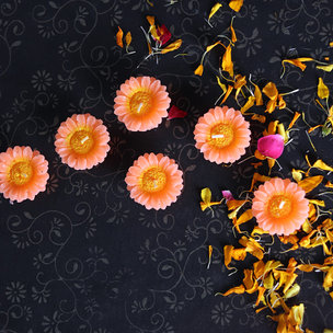 Yellow Sunflower Candles - Diwali Gift