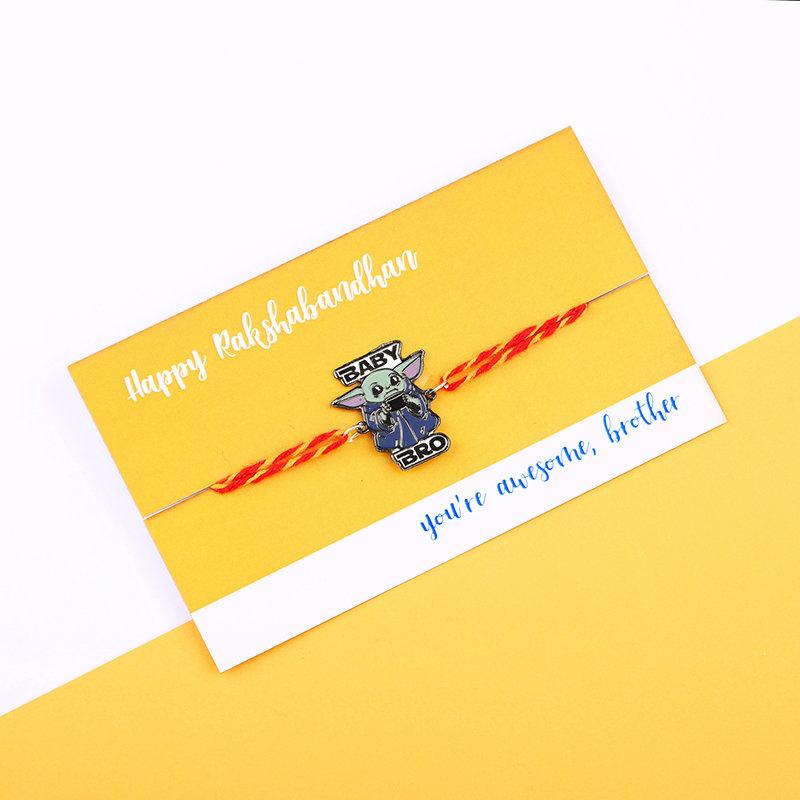 Rakhi Card in Yoda Themed Rakhi