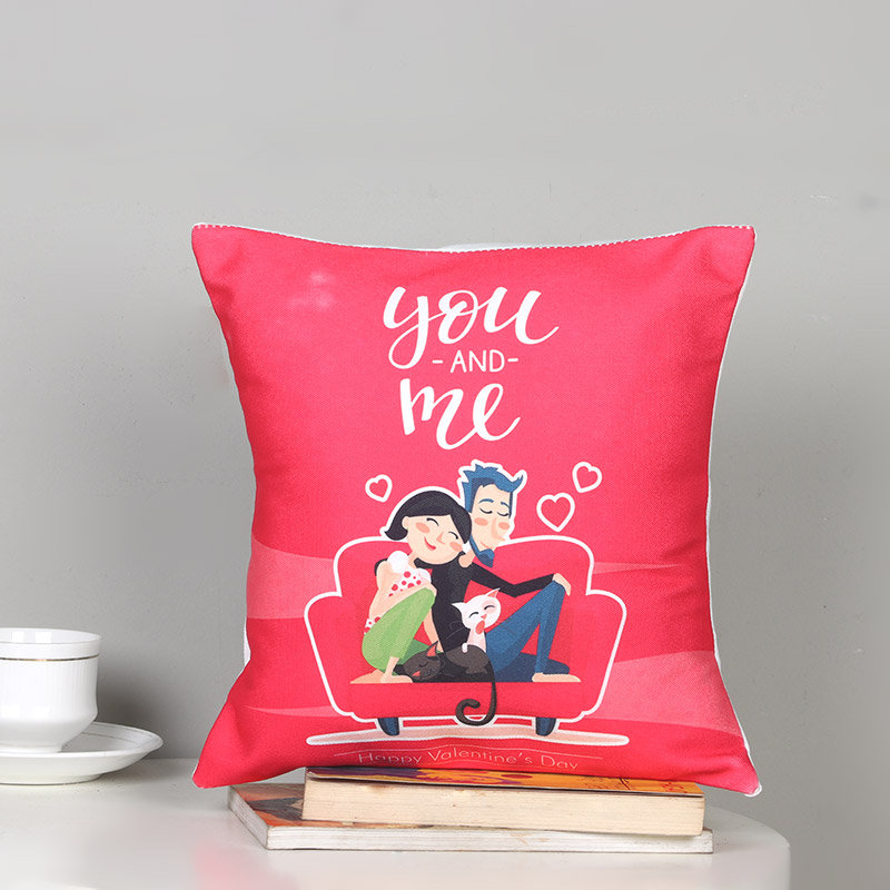 You And Me Pink Cushion