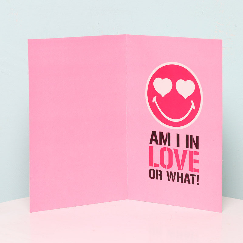 You Make Me Blush Card in Opened View