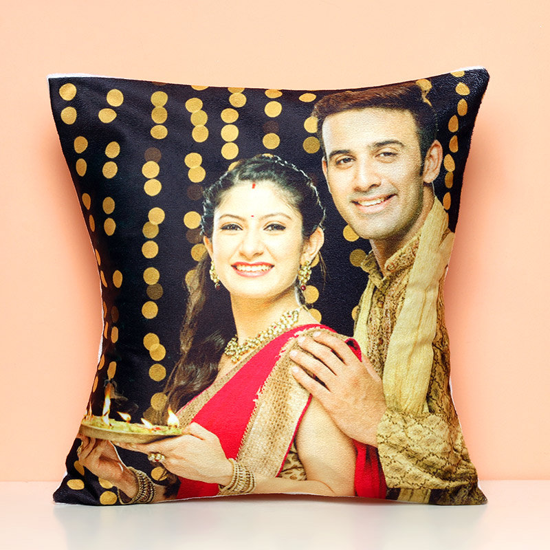 You N I Photo Led Cushion - 12X12 Inch Personalised LED Cushion