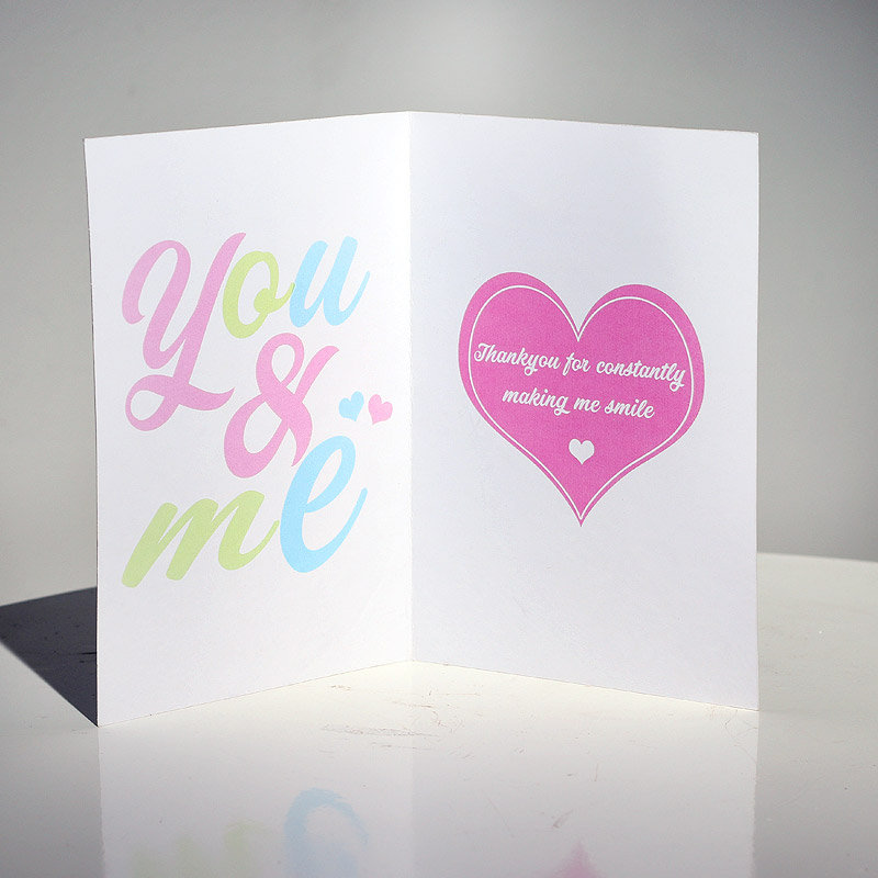 Inner view of You and Me Love Greeting Card
