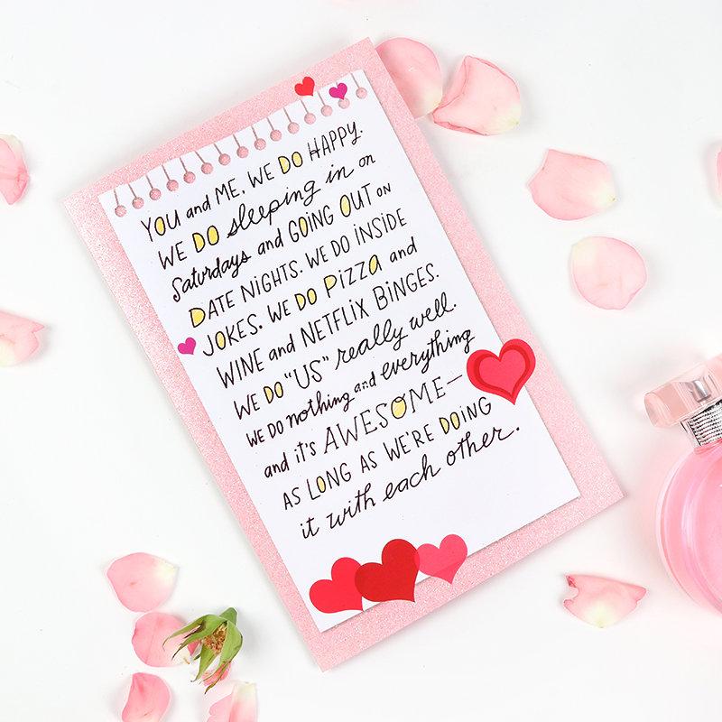 You N Me Greeting Card
