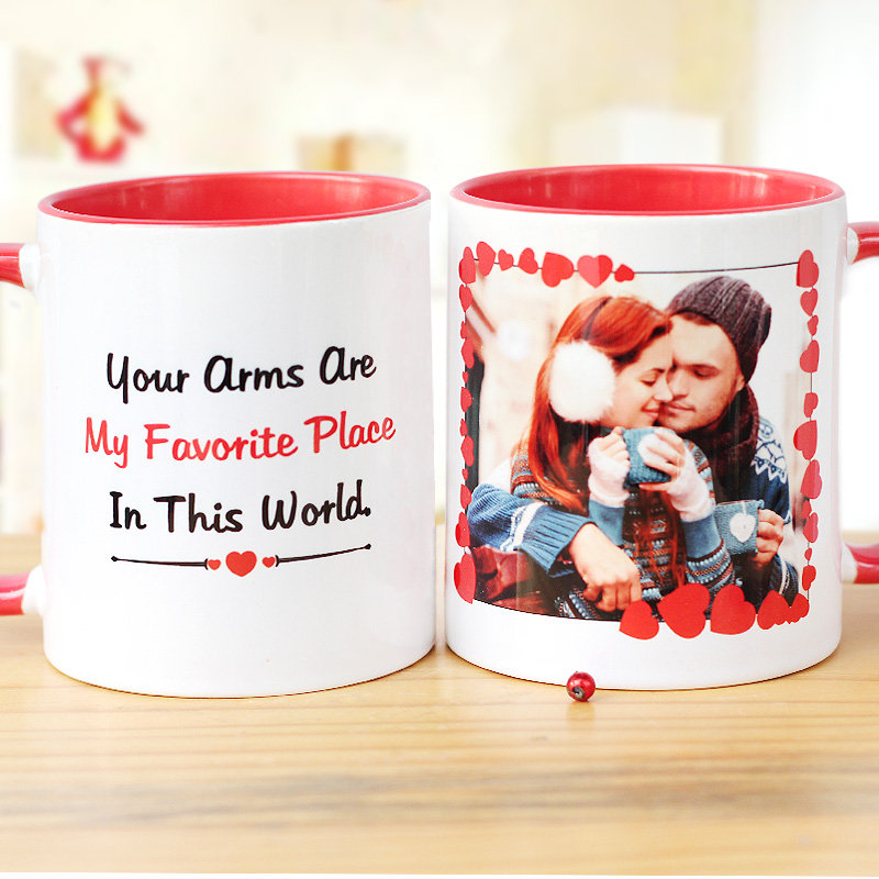 Valentines Personalised Mug with Photo for Girlfriend