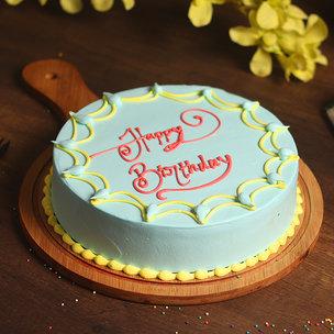 A Happy Birthday Cake