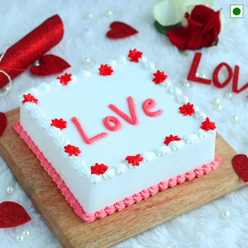 Eggless Love Cake
