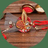 Order Zardosi rakhi online in India